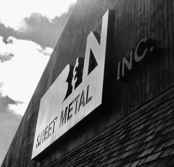 B&N Sheet Metal sign